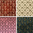 Background set of retro style wallpaper vintage and soiled with — Image vectorielle