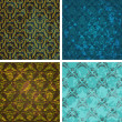 Vector de stock : Background set of retro style wallpaper vintage and soiled with