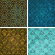 Background set of retro style wallpaper vintage and soiled with — Imagen vectorial