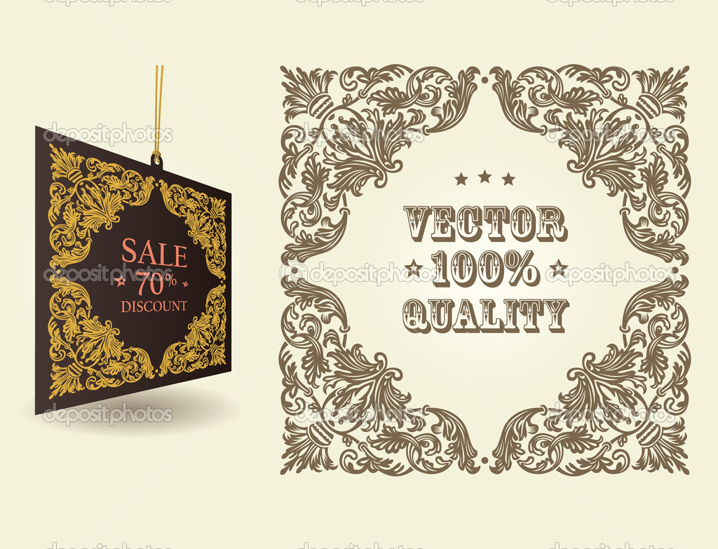 Vintage Ornate Vector Vector Vintage Ornate Page