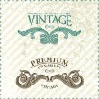 Stock Vector: Two vintage styled premium quality ornate labels