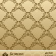 Seamless wallpaper vector ornament vintage background — 图库矢量图片