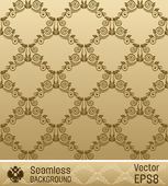 Seamless wallpaper vector ornament vintage background — Stock Vector