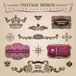 Calligraphic vintage elements Congratulation and page decoration — Stockvectorbeeld