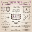 Vector set calligraphic design elements and page decoration, col - Stockvectorbeeld