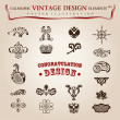 Royalty-Free Stock Imagen vectorial: Vector set calligraphic design elements and page decoration, pre