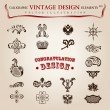 Royalty-Free Stock Vectorafbeeldingen: Vector set calligraphic design elements and page decoration, pre