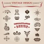 vector instellen kalligrafische designelementen en pagina decoratie, pre — Stockvector