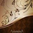 Decorative golden background — Image vectorielle