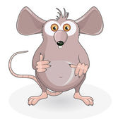 Funny rat — Stock Vector