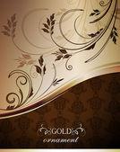 Fond doré décoratif — Vecteur
