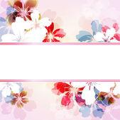 Absrtact bloemen achtergrond — Stockvector