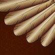 Vector background with  golden feathers - Image vectorielle