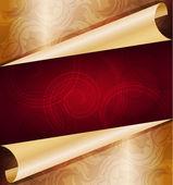 Decorative golden background — Stock Vector