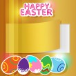Greeting card for Easter — Image vectorielle