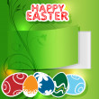 Greeting card for Easter - Vettoriali Stock
