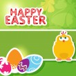 Happy Easter. Greeting card — Vektorgrafik