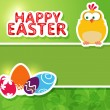 Happy Easter. Greeting card - Stok Vektör