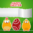 Happy Easter. Greeting card — Stok Vektör