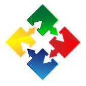 Puzzle flecha — Vector de stock