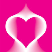Abstract pink heart — Stock Vector