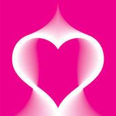 Astratto cuore rosa — Vettoriale Stock