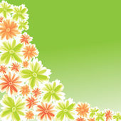 Blomma illustration för kortdesign — Stockvektor