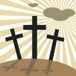 Good Friday Easter Day Crosses — Stock Vector