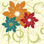 Стилизованный цветочный фон — Cтоковый вектор