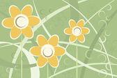 Sfondo fiori margherita stilizzata astratta — Vettoriale Stock