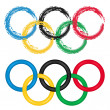 Olympic Rings -  vector set of two — Stock Vector