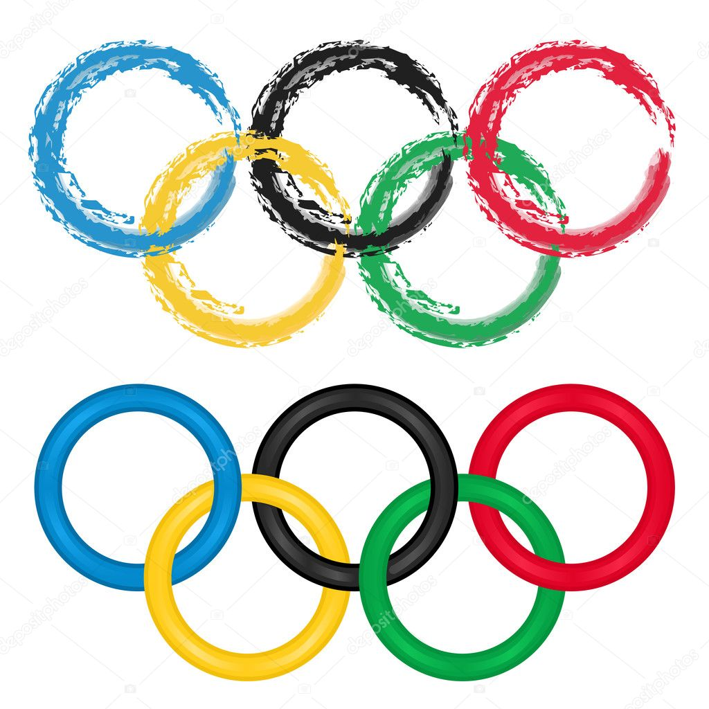 olympic rings vector set of two � stock vector 169 eireann