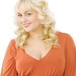 Portrait of beautiful blonde woman smiling — Stock Photo #10491663