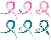 Le cancer du sein et rubans de cancer de l'ovaire — Vecteur