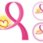 Постер, плакат: Breast Cancer Ribbons Icons