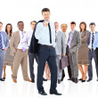 Business team and their leader — Stock Photo #9784669