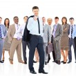 Business team and their leader — Stock Photo