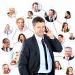 Royalty-Free Stock Photo: A group of talking on the phone