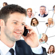 A group of talking on the phone — Stock Photo #9870423