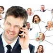 A group of talking on the phone — Stock Photo #9870748
