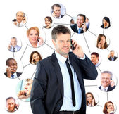 A group of talking on the phone — Stock Photo