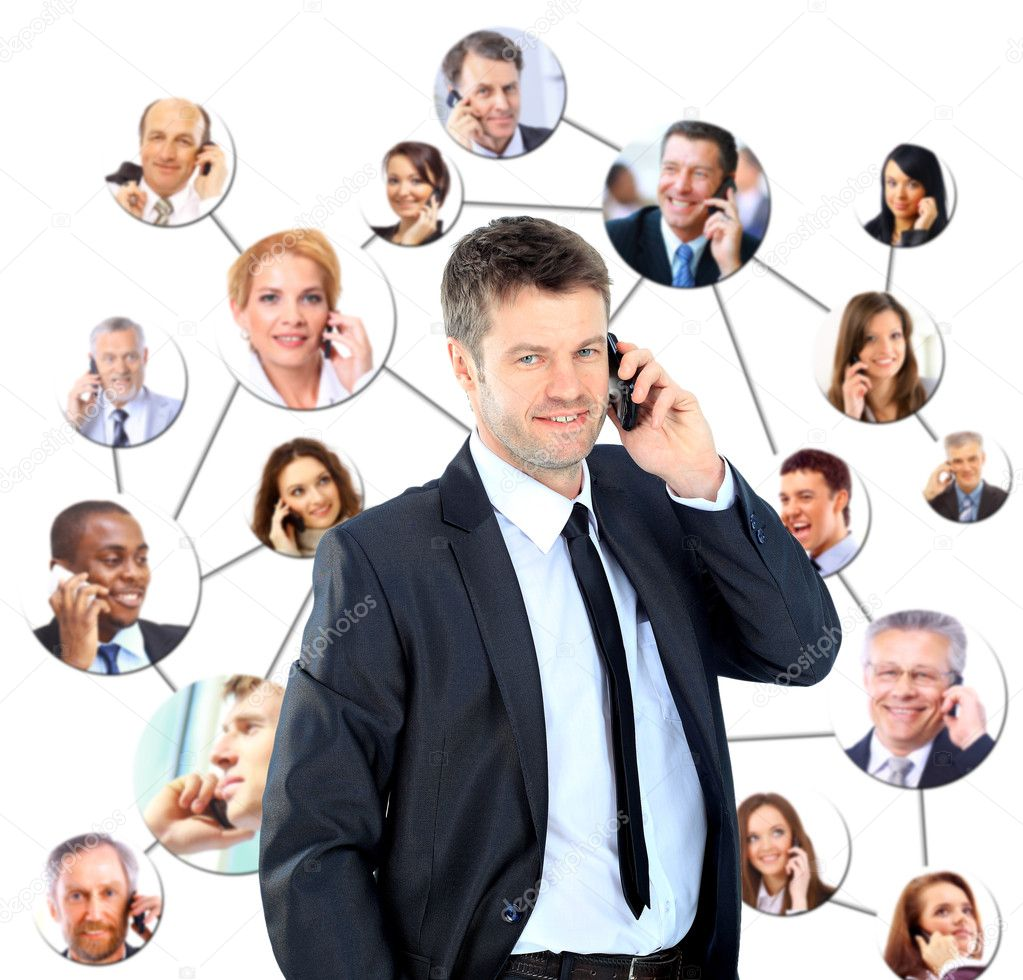 A group of talking on the phone — Stock Photo #9870312