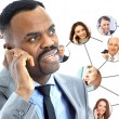 African american man speaking on the phone — Stock Photo