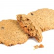 Oatmeal Cookies with Crumbs Isolated on White Background — Stock Photo