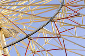 Detail of Big (Ferris) Wheel in Amusement Park — Stock fotografie