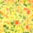 Royalty-Free Stock Photo: Raw Spring Onion and Tomato Omelet