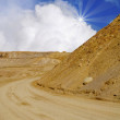 Pile of Sand and Sand Road at the Quarry - Stock Photo