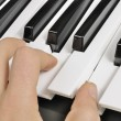 MusiciPlaying Piano (MIDI Keyboard) — Stock Photo #8834347