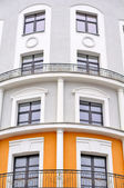 Building with Rounded Facade and Balustrades — Stock Photo