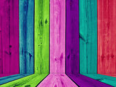Painted Multicolored Wooden Room — 图库照片